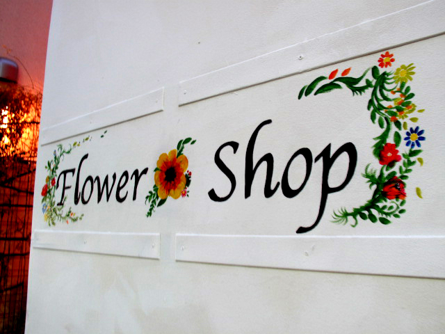 Flower shop Farver shop card Design&shop paint
